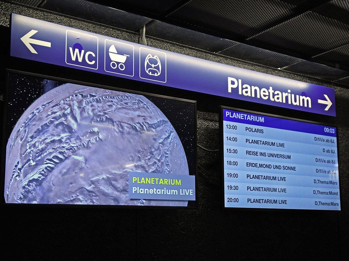 Referenzbild Verkehrshaus der Schweiz Luzern, Raumanzeige