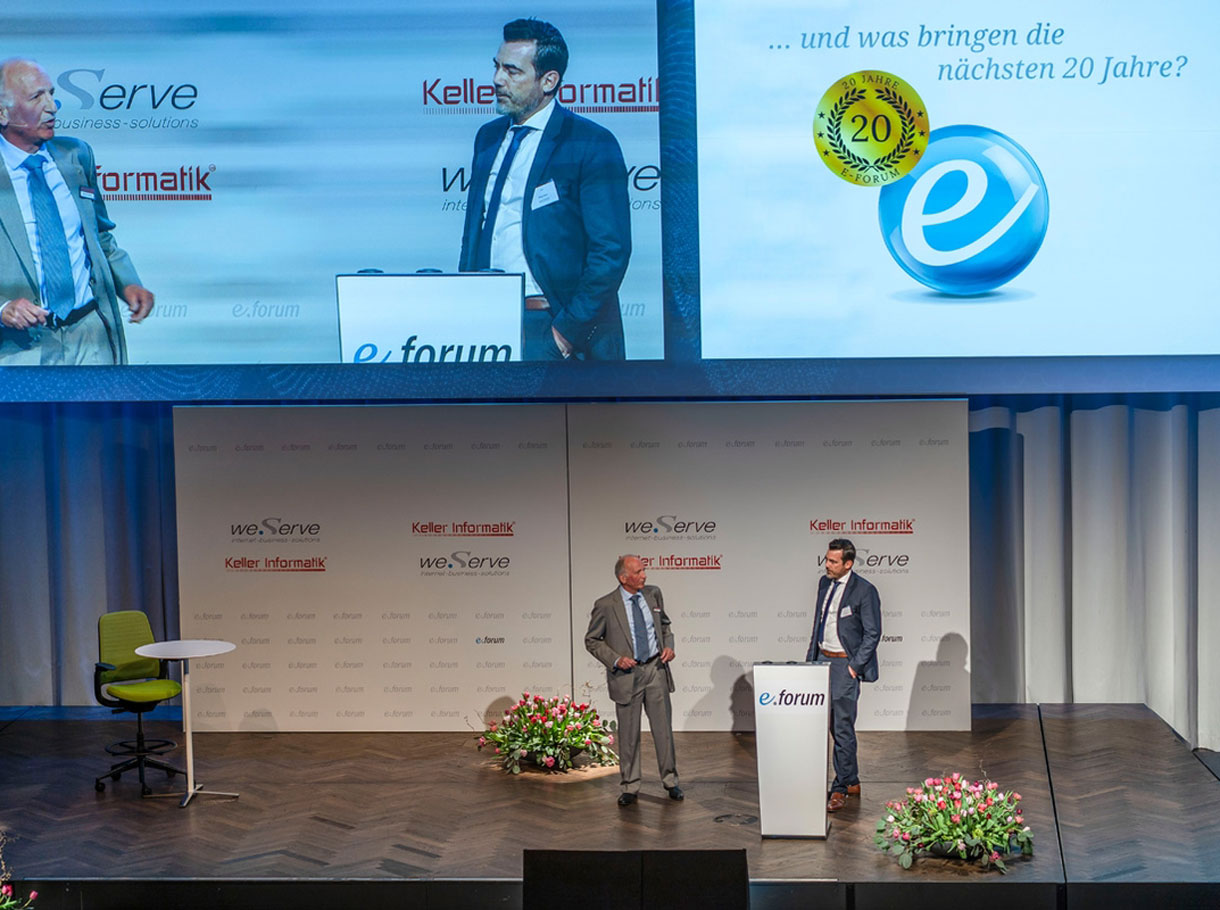 Referenzbild e-forum Bern, Speaker