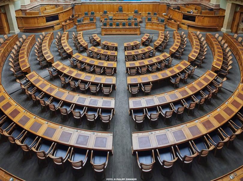 Referenzbild Bundeshaus Bern, Nationalratssaal