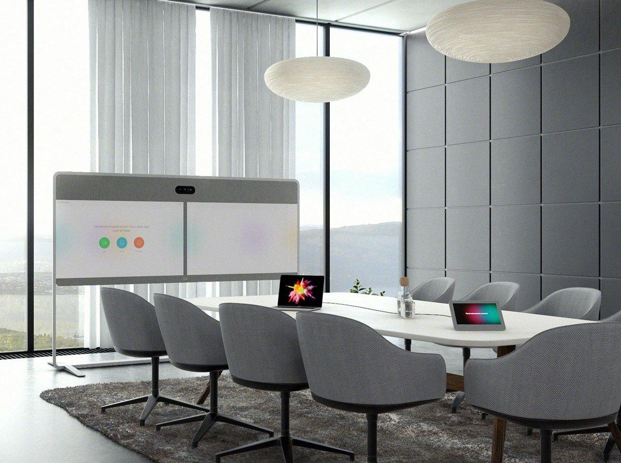 Cisco Spark System in einem Sitzungszimmer