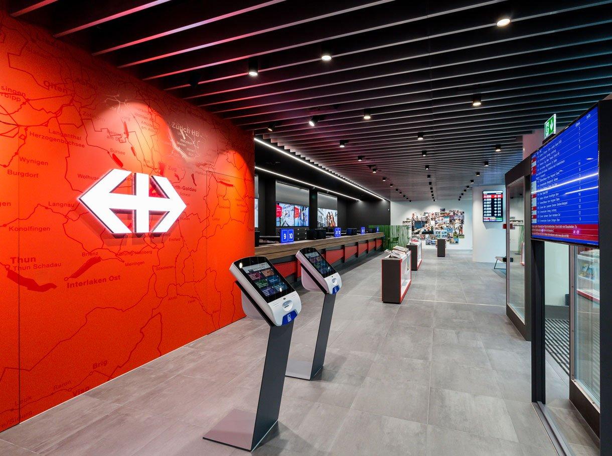 Referenzbild SBB Reisezentrum Luzern Öffentlicher Bereich