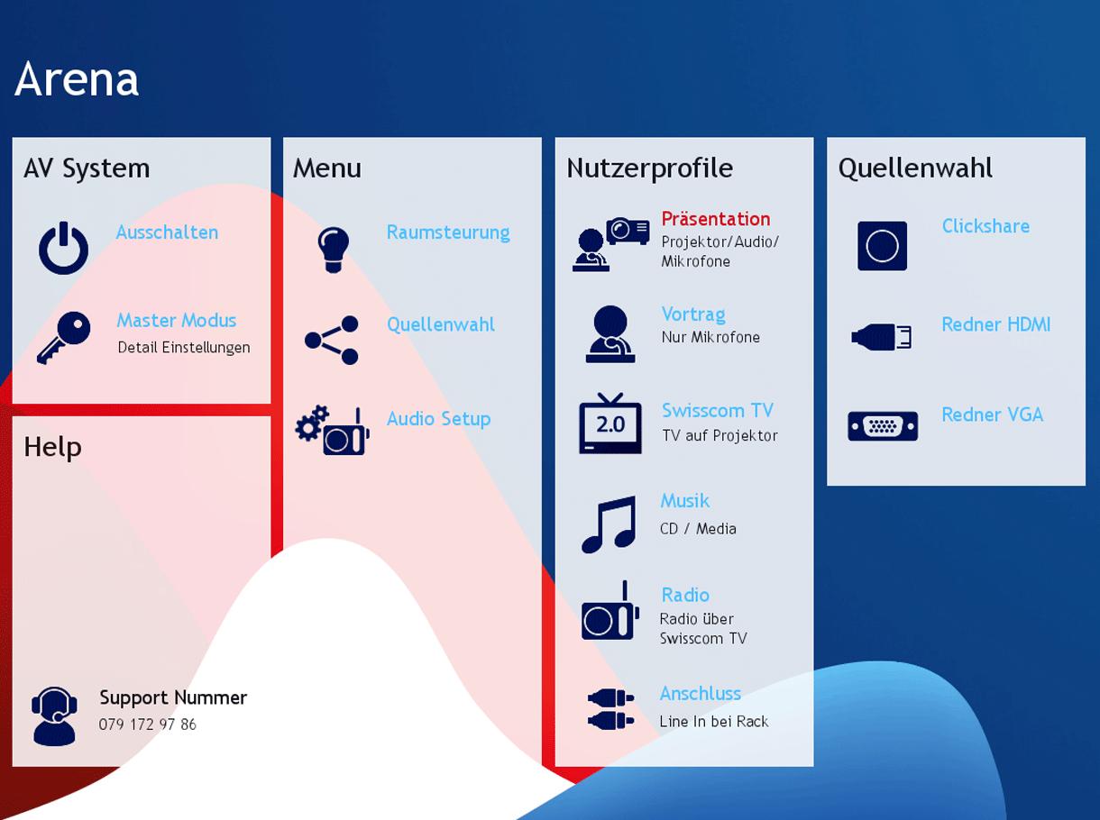 Referenzbild Swisscom Mediensteuerung